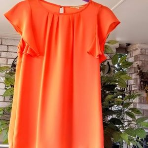 Gorgeous Orange Blouse -XS Gianni Bini